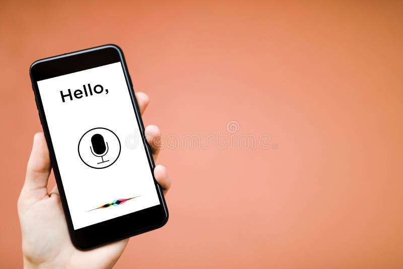 Reconnaissance vocale, apprentissage automatique images libres de droits