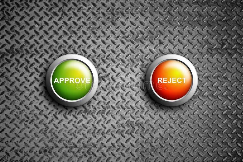 Reconnaissez et rejetez le bouton illustration libre de droits