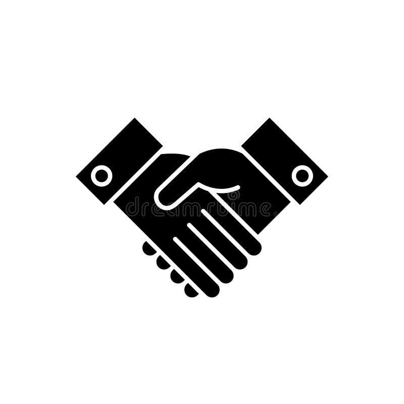 Reconnaissez l'icône noire, la dirigez pour se connecter le fond d'isolement Reconnaissez le symbole de concept, illustration illustration stock