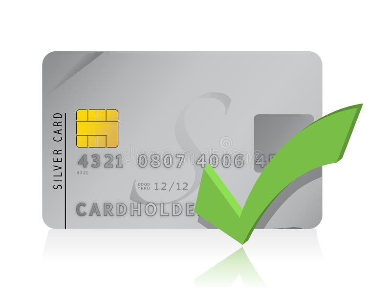 Reconnaissez l'illustration par la carte de crédit illustration libre de droits