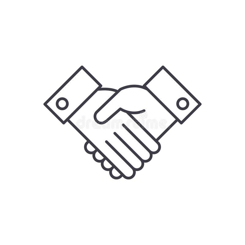 Reconnaissez la ligne concept d'icône Reconnaissez l'illustration linéaire de vecteur, symbole, signe illustration stock