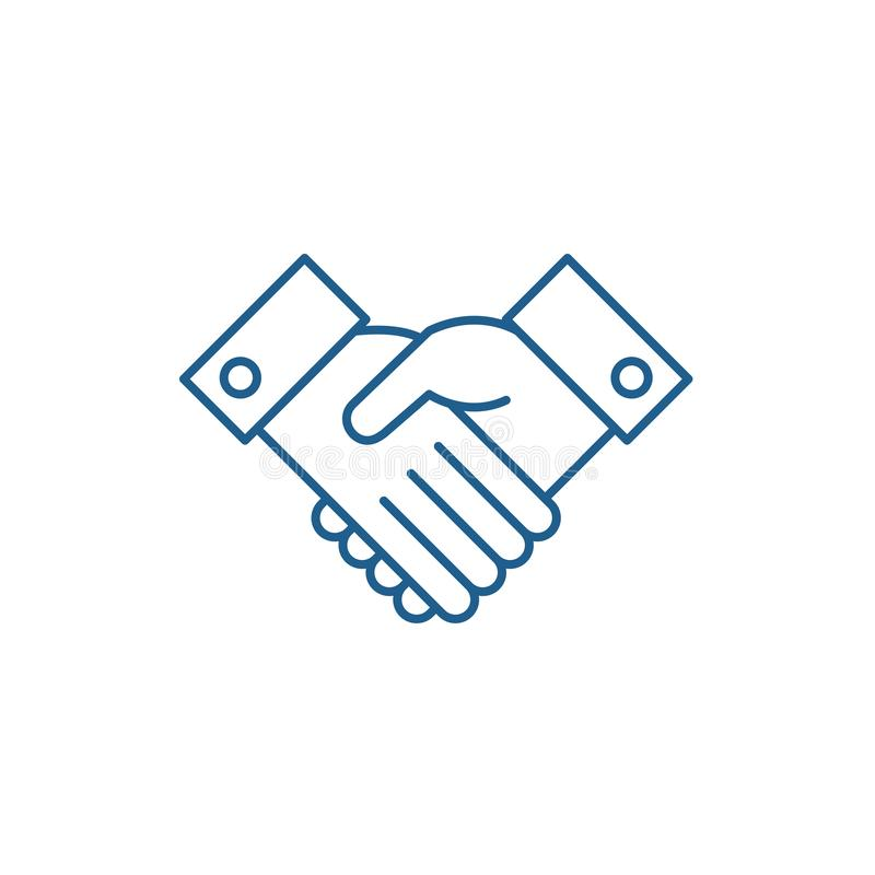 Reconnaissez la ligne concept d'icône Reconnaissez le symbole plat de vecteur, signe, illustration d'ensemble illustration de vecteur