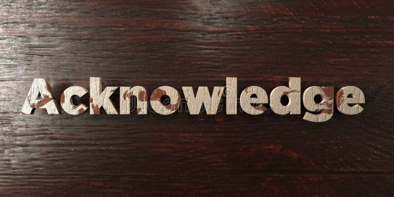 Reconnaissez - titre en bois sale sur l'érable - l'image courante gratuite de redevance rendue par 3D illustration de vecteur