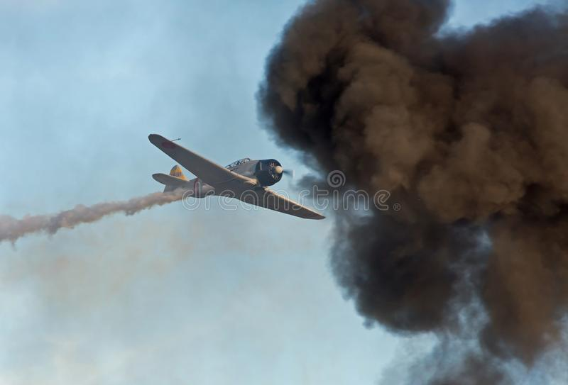 Reconstitution d'attaque de Pearl Harbor photo stock