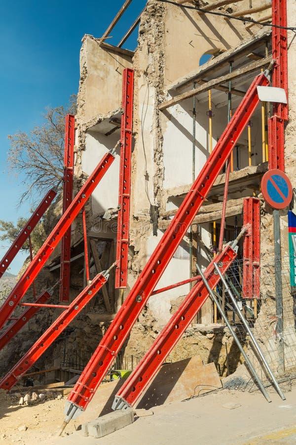 Reconstitution d'une vieille maison photographie stock libre de droits