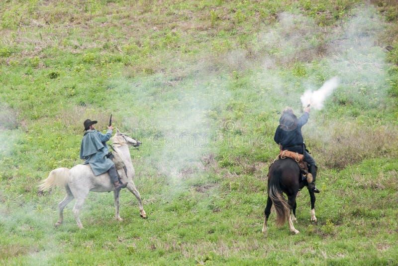 Reconstitution de guerre civile photos libres de droits