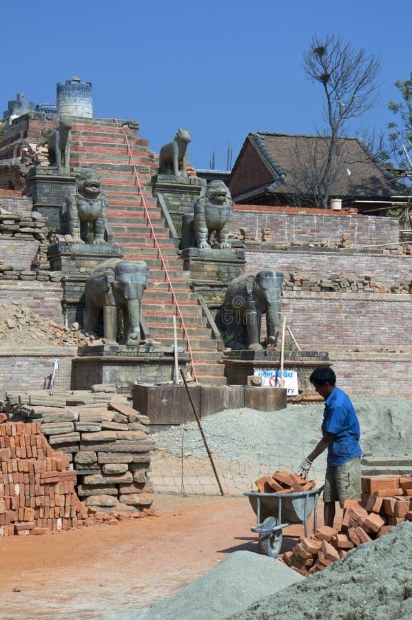Reconstitution du temple image libre de droits