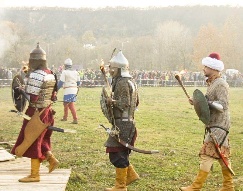 Reconstitution historique à Varna images stock