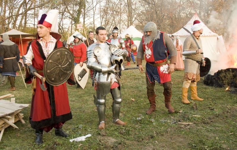 Reconstitution historique à Varna images libres de droits