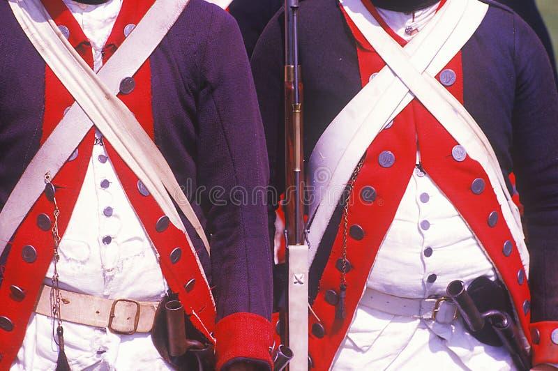 Reconstitution historique, Daniel Boone Homestead, brigade de révolution américaine, infanterie continentale d'armée photo stock