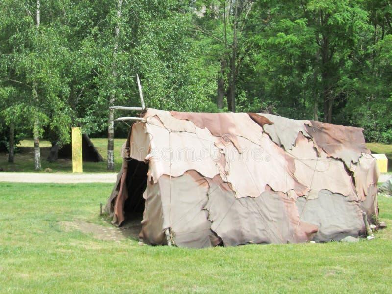 Reconstitution historique de tente militaire américaine photos stock
