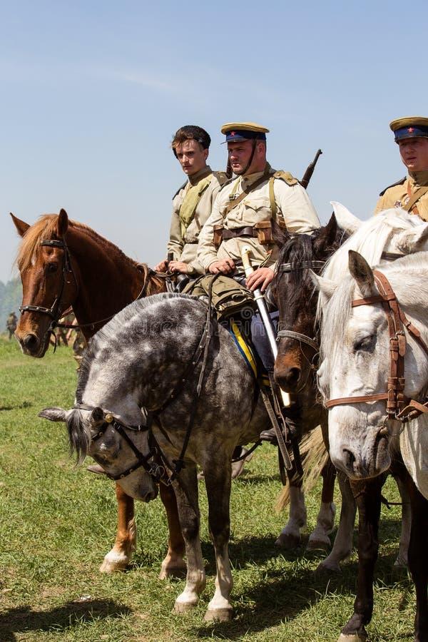 Reconstitution historique de WWII à Kiev, Ukraine photographie stock libre de droits