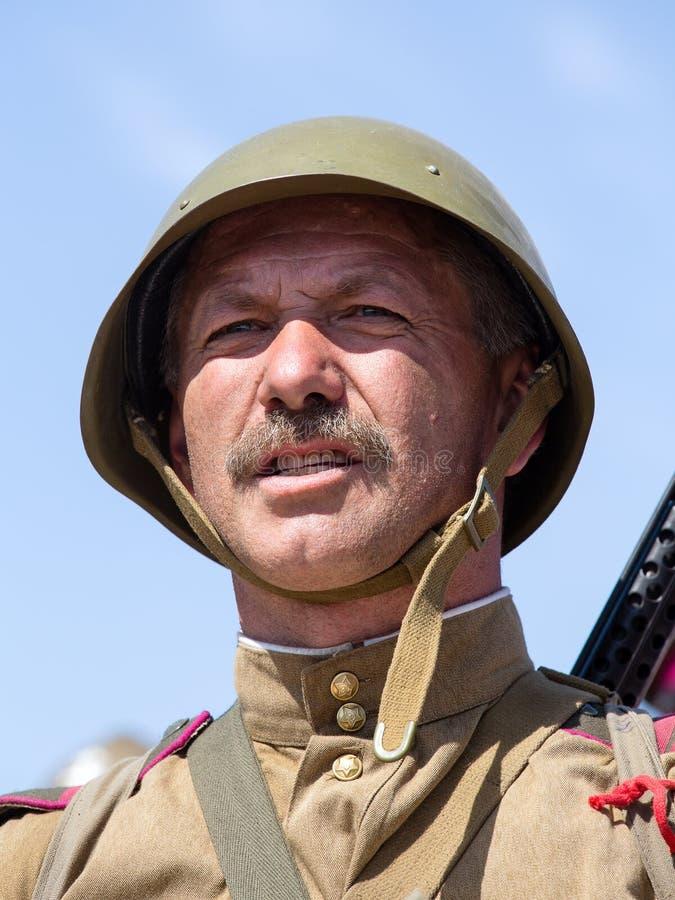 Reconstitution historique de WWII à Kiev, Ukraine photos stock