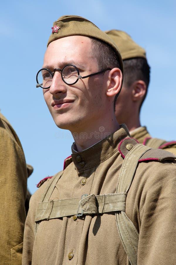 Reconstitution historique de WWII à Kiev, Ukraine photo stock