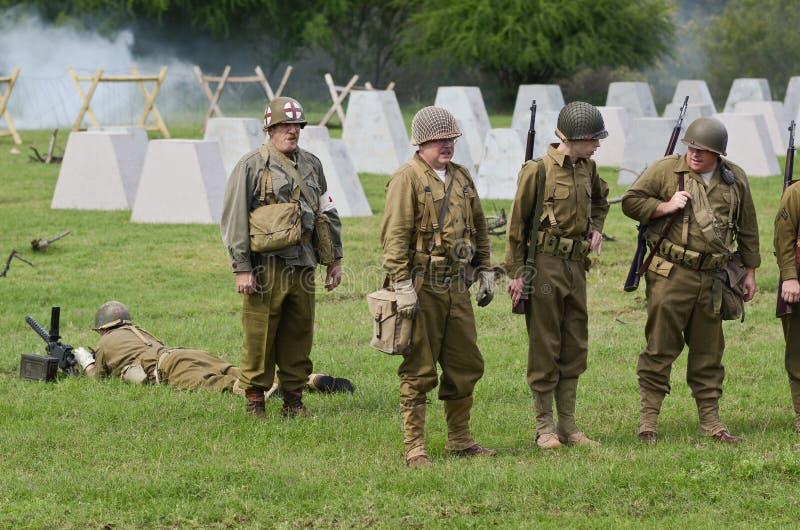 Reconstitution historique de WWII photographie stock libre de droits