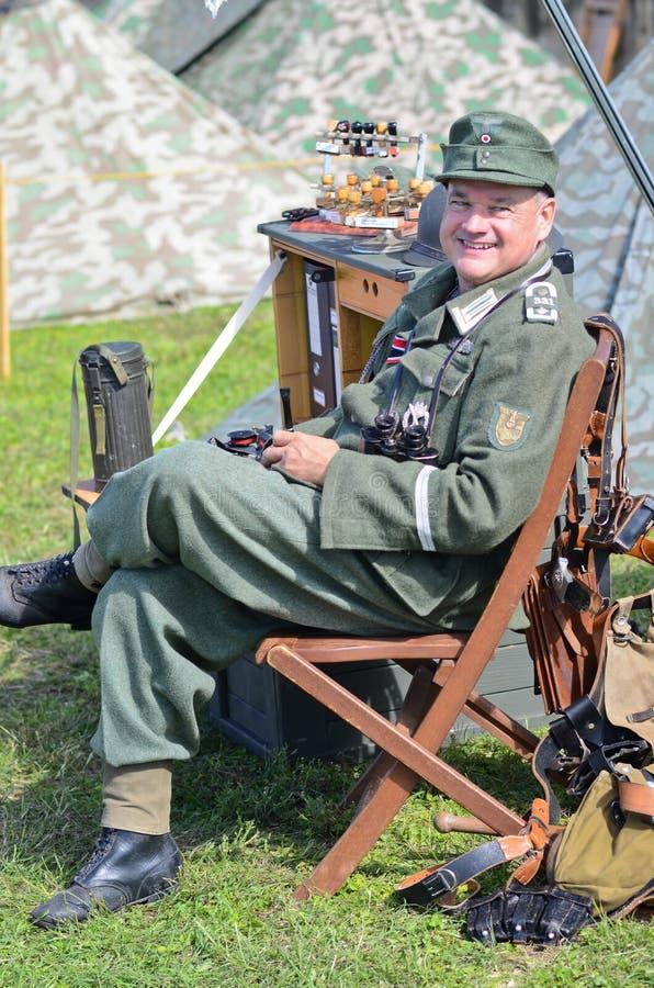 Reconstitution historique de WWII dans Austin, le Texas photo libre de droits