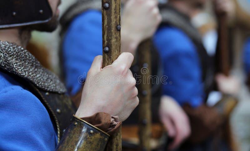 Reconstitution médiévale photos libres de droits