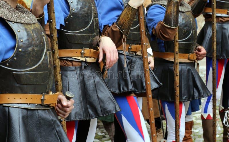 Reconstitution médiévale photo libre de droits