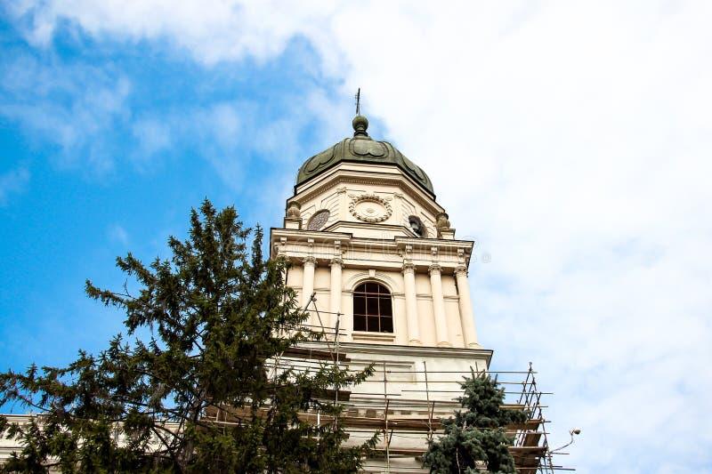 Reconstrução da igreja imagens de stock royalty free