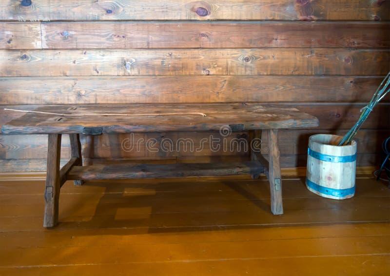 Reconstrução de um lugar para a punição corporal na sala de aula da escola foto de stock royalty free