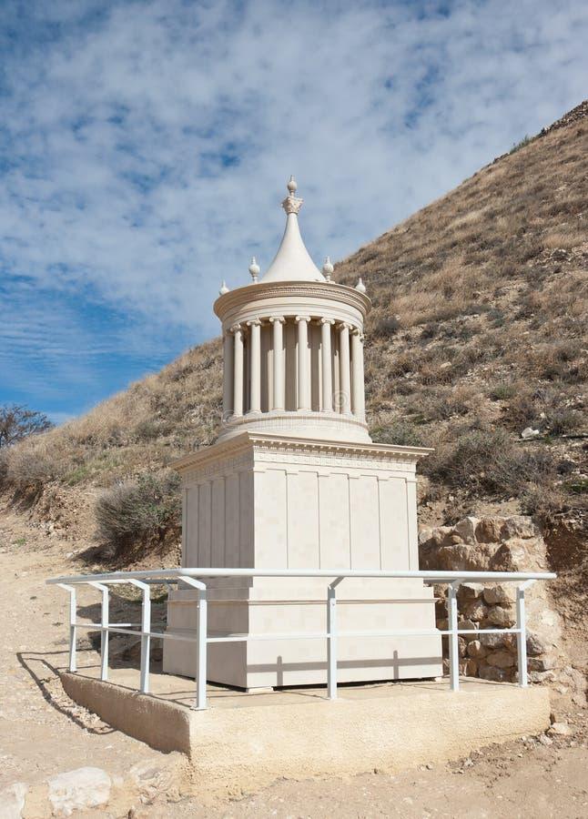 Reconstrução do túmulo do rei Herod foto de stock royalty free