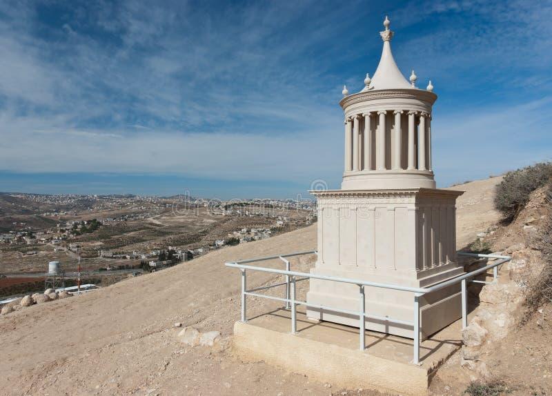 Reconstrução do túmulo do rei Herod imagem de stock royalty free