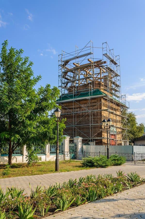 Reconstrução e reparo da igreja ucraniana ortodoxo imagem de stock royalty free