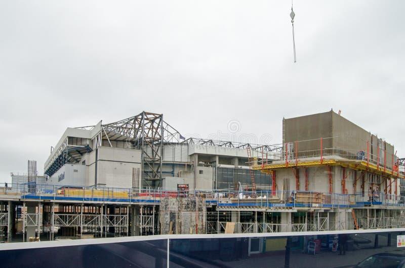 Reconstrucción blanca de Hart Lane Stadium fotografía de archivo