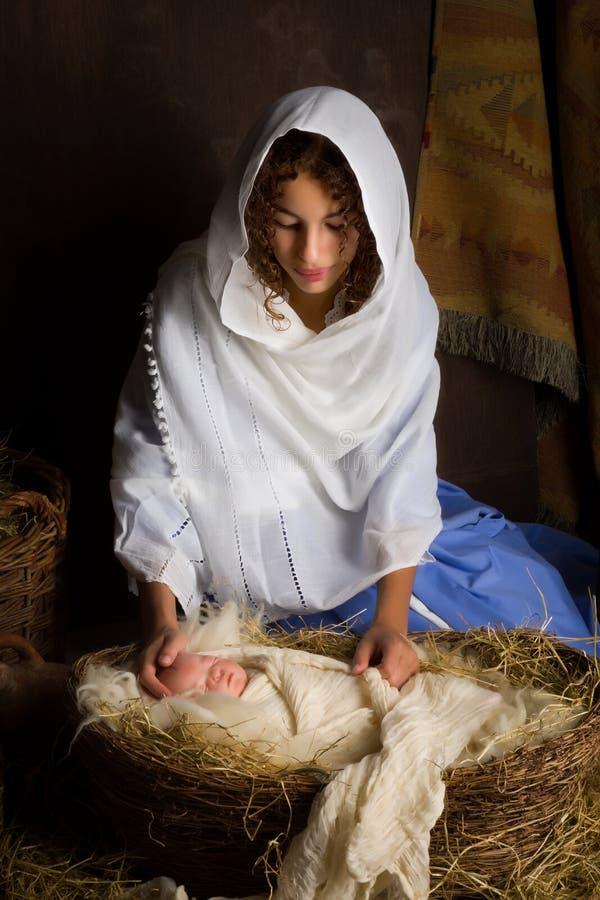 Reconstrucción de la escena de la natividad imagen de archivo libre de regalías