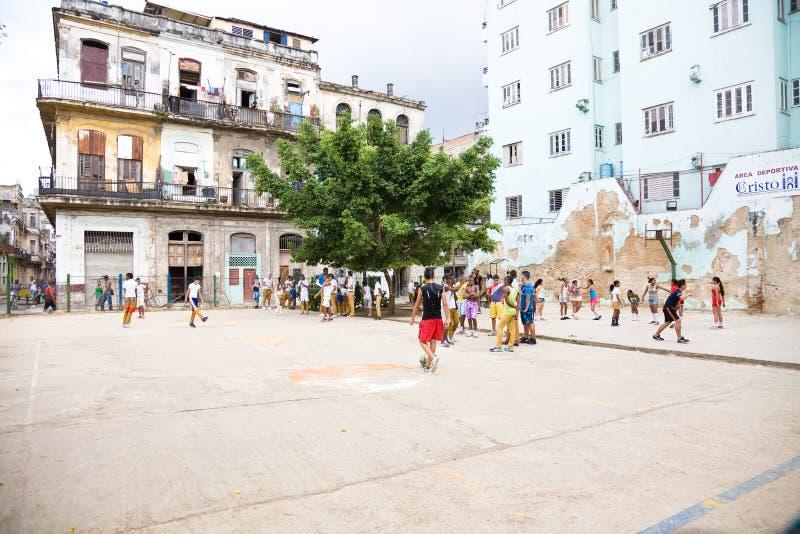 Reconstrucción de la escuela, La Habana, Cuba imágenes de archivo libres de regalías