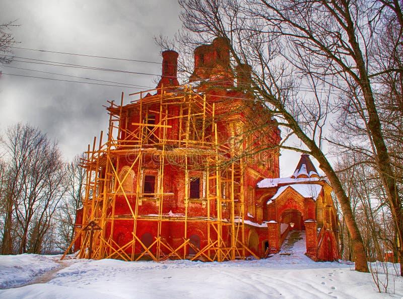 Reconstrucción de la iglesia vieja imágenes de archivo libres de regalías