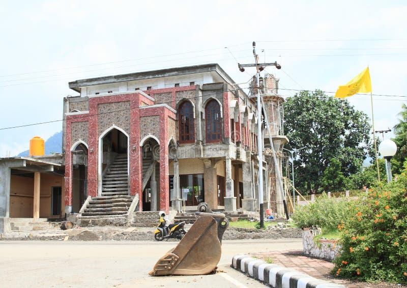 Reconstrucción de la mezquita Masjid Simpang Lima Ende imágenes de archivo libres de regalías