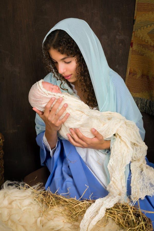 Reconstrucción de la natividad de la Navidad imagen de archivo libre de regalías