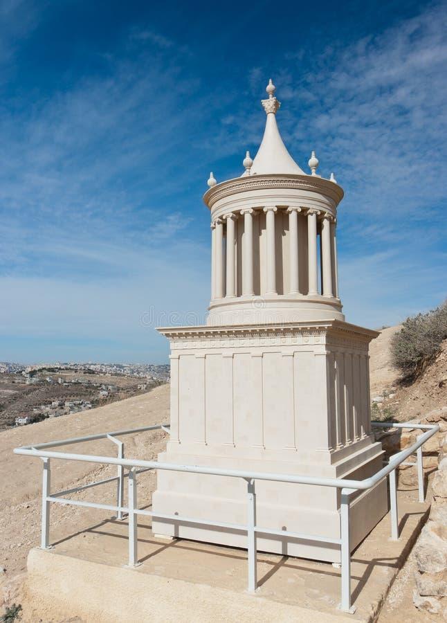 Reconstrucción de la tumba de rey Herod foto de archivo