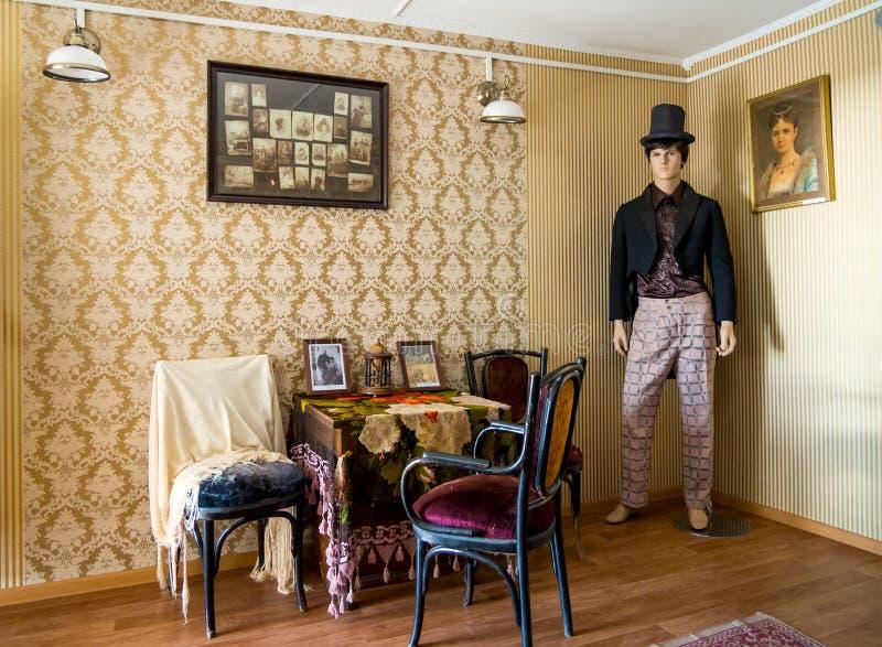 Reconstrucción de la vida del siglo XIX imagenes de archivo
