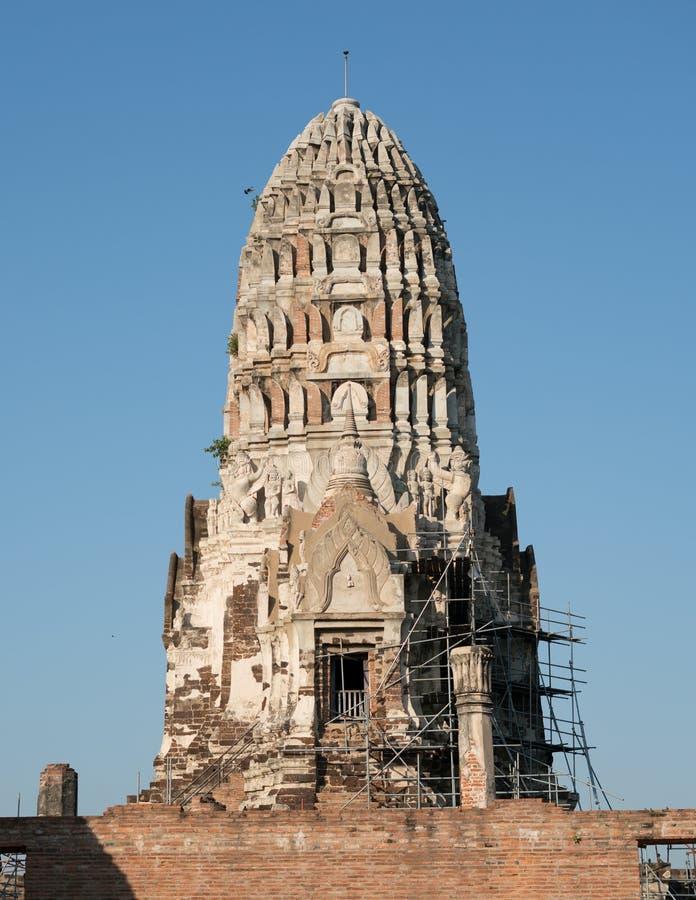 Reconstrucción de las ruinas imagen de archivo
