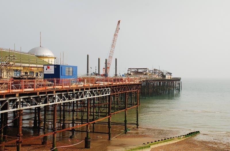 Reconstrucción del embarcadero de Hastings foto de archivo libre de regalías