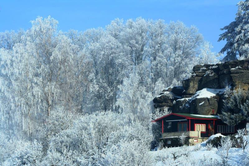 Reconstrucción del invierno foto de archivo