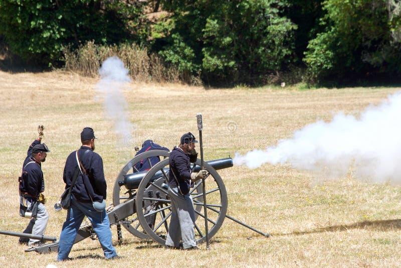 Reconstrucción Duncan Mills 2017 de la guerra civil imagen de archivo
