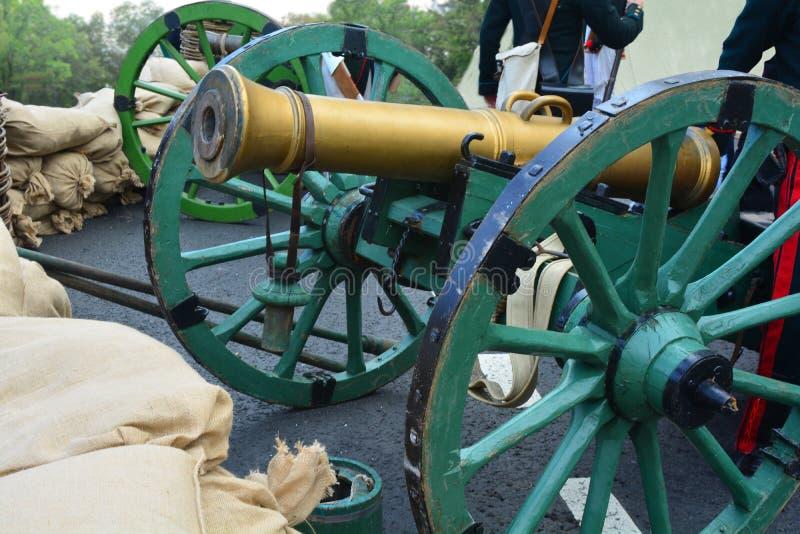 Reconstrucción histórica de la guerra 1812 imagenes de archivo