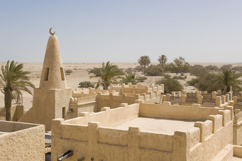 Download Reconstructed Arab village stock image. Image of ancient - 6910837