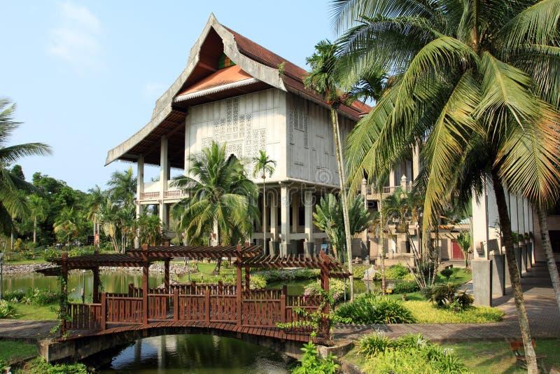Reconstruction de maison malaise traditionnelle photographie stock libre de droits