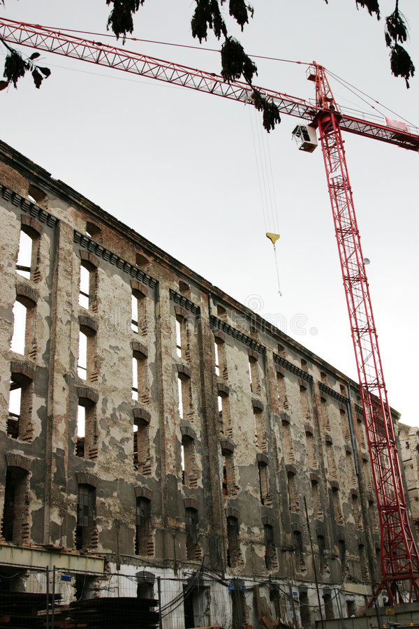 Reconstruction de moulin photos libres de droits
