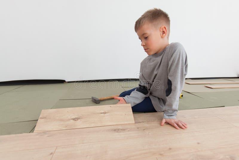 Reconstruction de plancher en bois image libre de droits