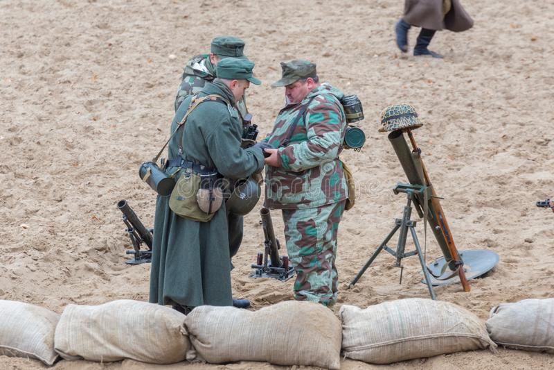Reconstruction historique de la deuxième guerre mondiale, photo libre de droits