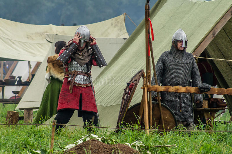 Reconstruction of life of ancient Slavs on the festival of historical clubs in Zhukovsky district of Kaluga region of Russia. In recent years, Russia became stock images