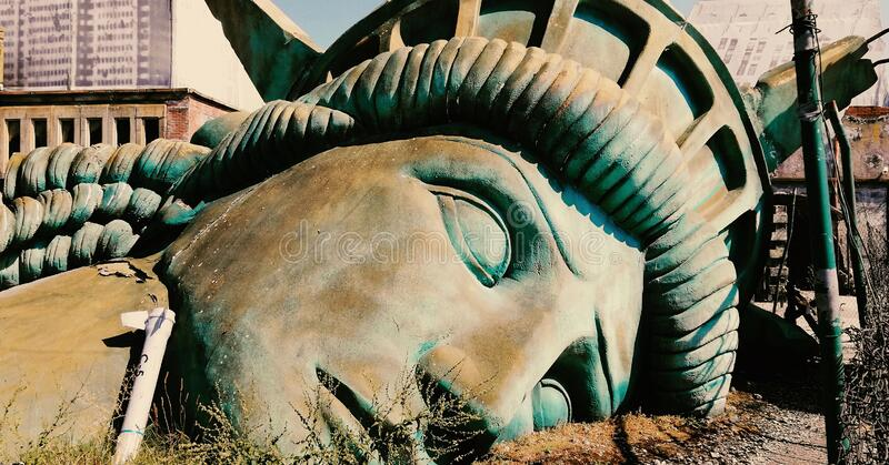Statue of Freedom Fall stock photo