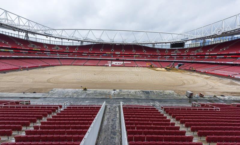 Reconstruction works at the Emirates stadium stock photography