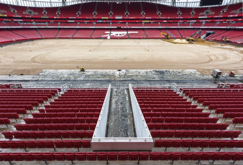 Reconstruction works at the Emirates stadium royalty free stock image