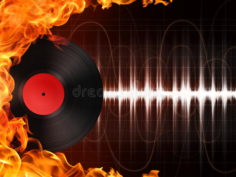 Download Record stock illustration. Image of disc, jockey, flame - 15330222